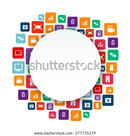 Abstract Creative concept vector empty speech bubbles. For web and mobile applications isolated on background, illustration template design, presentation, business infographic and social media icon. - stock vector