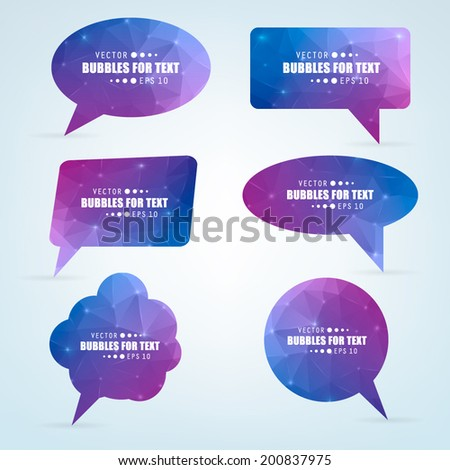 Abstract Creative concept vector empty speech bubbles set. For web and mobile applications isolated on background, illustration template design, presentation, business infographic and social media,