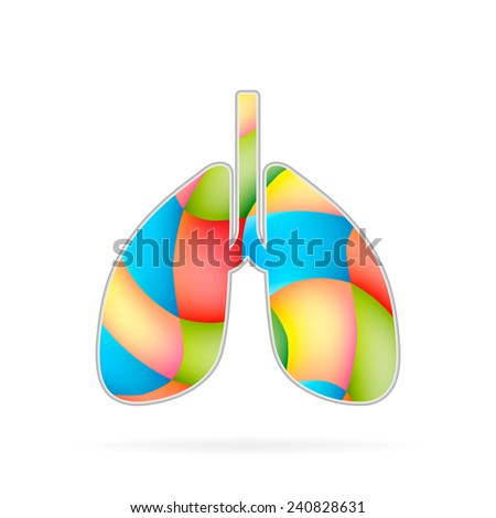 Abstract Creative concept vector icon of Breath for Web and Mobile Applications isolated on background. Art illustration template design, Business infographic and social media, digital flat silhoette - stock vector