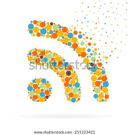 Abstract Creative concept vector icon of wifi for Web and Mobile Applications isolated on background. Vector illustration template design, Business infographic and social media, origami icons. - stock vector