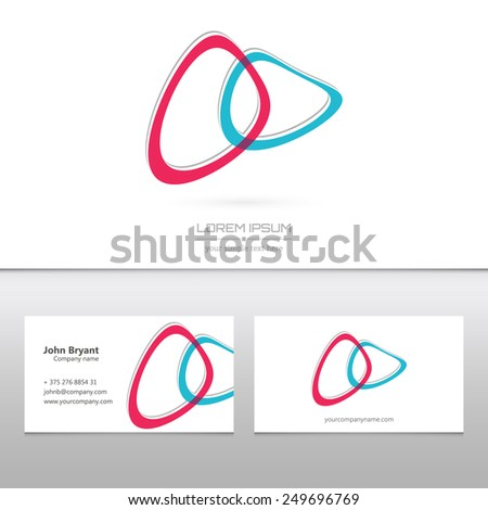 Abstract Creative concept vector image logo idea for web and mobile applications isolated on background, art illustration template design, business infographic and social media, icon, symbol, element. - stock vector