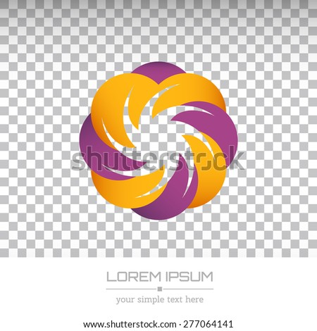 Abstract Creative concept vector image logo of real estate for web and mobile applications isolated on background, art illustration template design, business infographic and social media, icon, symbol - stock vector