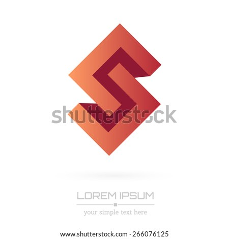 Abstract Creative concept vector image logo of shape form for web and mobile applications isolated on background, art illustration template design, business infographic and social media, icon, symbol - stock vector