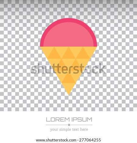 Abstract Creative concept vector logo of ice cream for web and mobile applications isolated on background, art illustration template design, business infographic and social media, symbol, element. - stock vector
