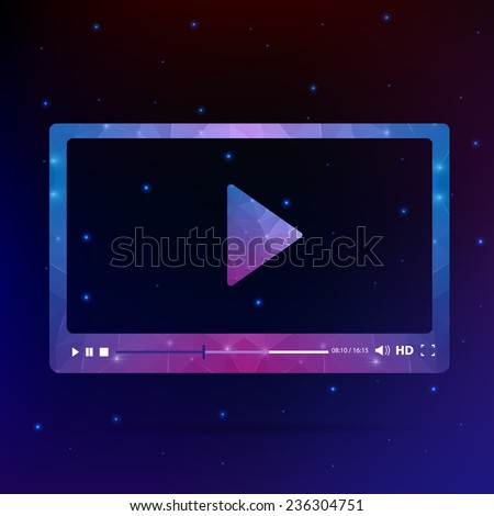 Abstract Creative concept vector media player. For modern web and mobile Applications isolated on background, interface, illustration template design, business infographic and social multimedia icon. - stock vector