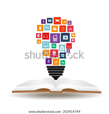 Abstract creative concept vector siluet bulb of icons. For web and mobile applications isolated on background, illustration template design, Business infographic and social media. - stock vector