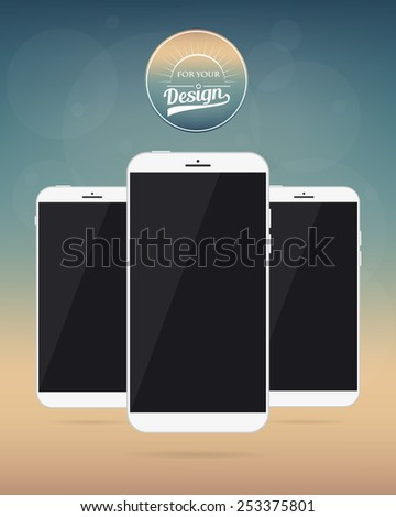 Abstract Creative concept vector smartphone. For web, mobile applications isolated on mesh background, design art template, flat business infographic, social media, ui, mockup style object, new device - stock vector
