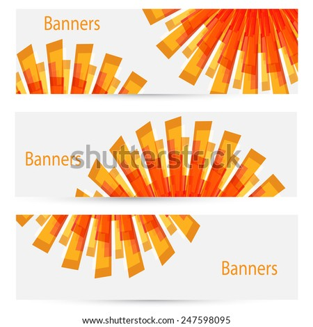 abstract creative light banners set vector isolated - stock vector