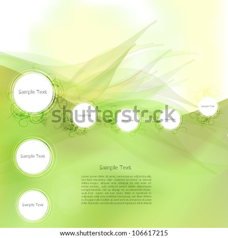 Abstract creative modern vector background or speech bubbles - stock vector