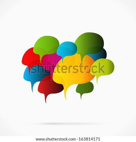 Abstract creative speech bubble cloud