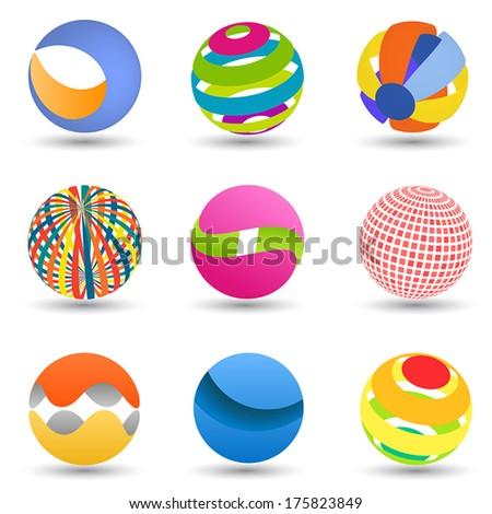 Abstract creative spheres - stock vector
