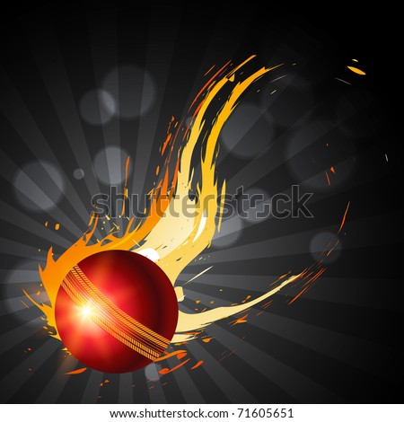 abstract cricket ball artistic background - stock vector