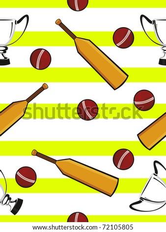 abstract cricket concept background, vector wallpaper - stock vector