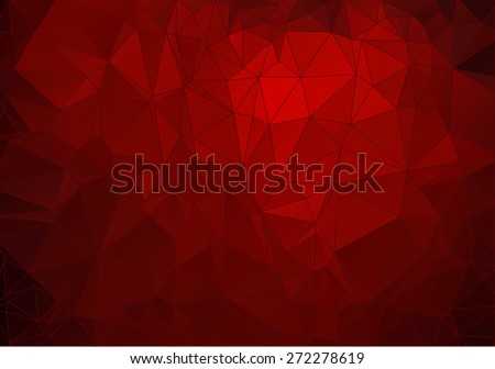 Abstract  crimson polygonal background for your web design - stock vector