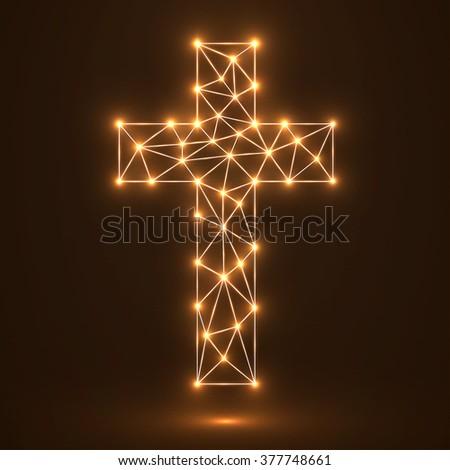 Abstract cross. Christian Symbol. Vector illustration. Eps10 - stock vector