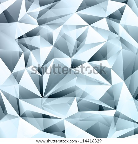 Abstract crystal background with transparency effect. - stock vector