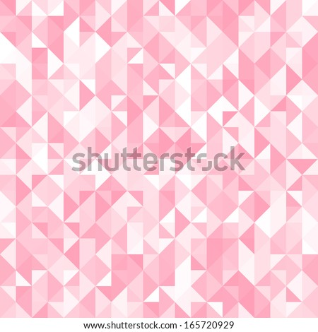 Abstract crystal pink triangle background. Vector illustration for your abstract cute romantic design. Can be used for cover book, textile, web page background, surface texture. Polygonal texture. - stock vector