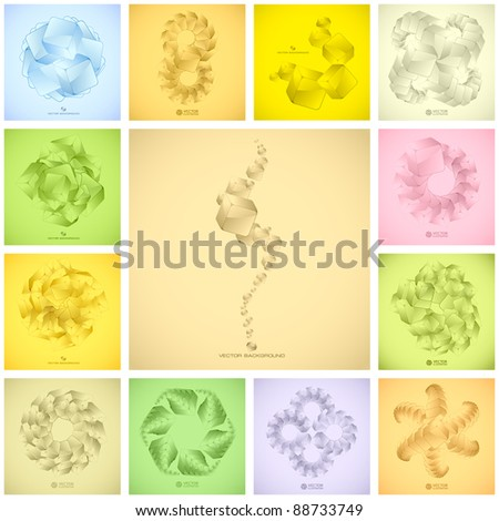 Abstract crystals background. Great collection. - stock vector