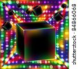Abstract cube art vector background. Vector illustration. - stock photo