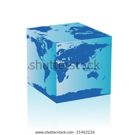 abstract cube earth
