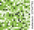 abstract cubes backdrop in green and white - stock photo
