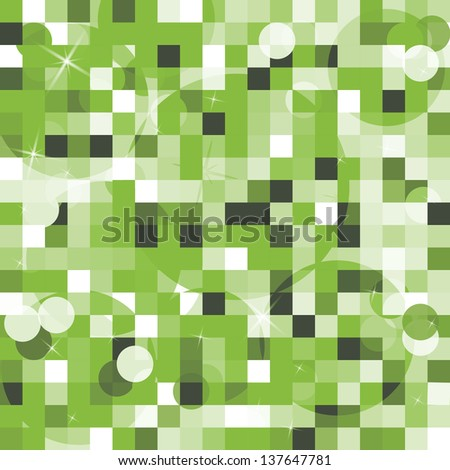 abstract cubes backdrop in green and white - stock vector