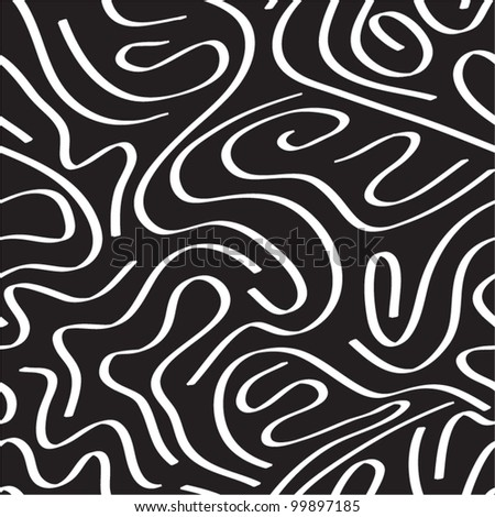 Abstract curly seamless pattern. - stock vector