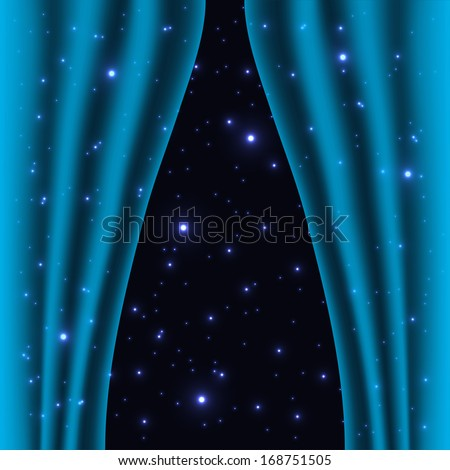 abstract curtain into space background