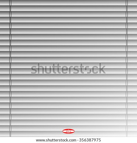 abstract curtain with jalousie with straight lines on dark background. vector illustration