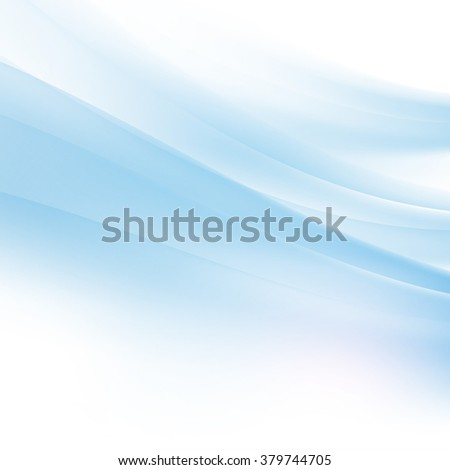 Abstract curve blue flow background and space, Vector illustration - stock vector