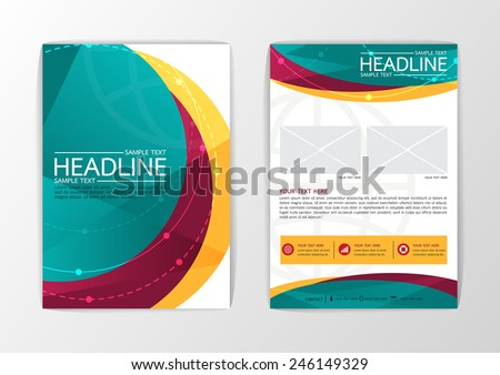 Abstract curve Brochure Flyer design-Vector illustration - stock vector