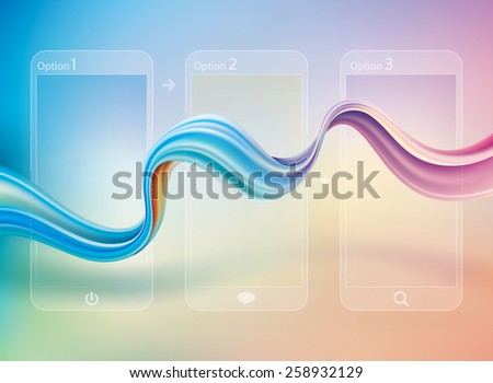 Abstract curve connection telecommunications background. - stock vector