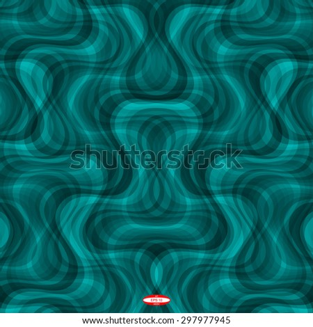 abstract curve dark cyan pattern with aqua texture with smoke with abstract turquoise line on slate background. vector illustration
