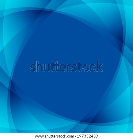 abstract curve line pattern on blue background (vector) - stock vector