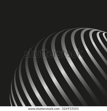 Abstract curved lines backdrop.  Vector background - stock vector