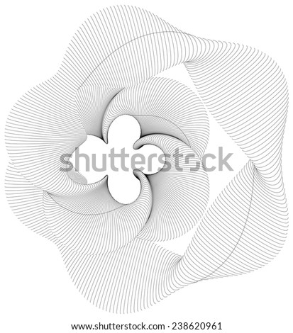 Abstract Curved Wire Shape Background Vector 08 - stock vector