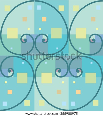 Abstract curves - stock vector