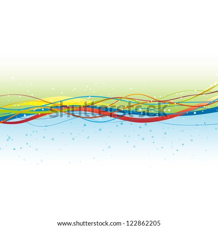 """Abstract Curves Waves Color Vector Background """"Full compatible CMYK gradients."""" - stock vector"""