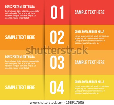 Abstract cut paper banners / panel template for business design, infographics,step presentation, progress, number options, websites or workflow layout. Clean and modern style