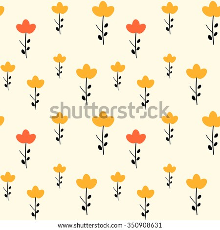 abstract cute little flowers seamless vector pattern background illustration