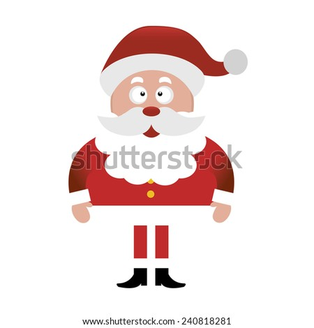 Abstract cute Santa Claus on a white background