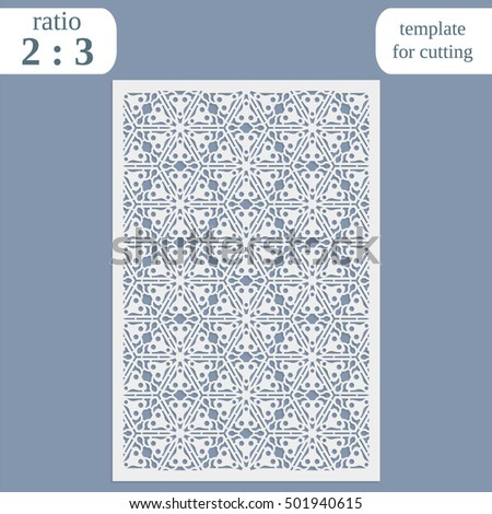 Abstract cutout panel laser cutting vector stock vector 498215254 abstract cutout panel for laser cutting die cutting or stencil vector filigree pattern for stopboris Images