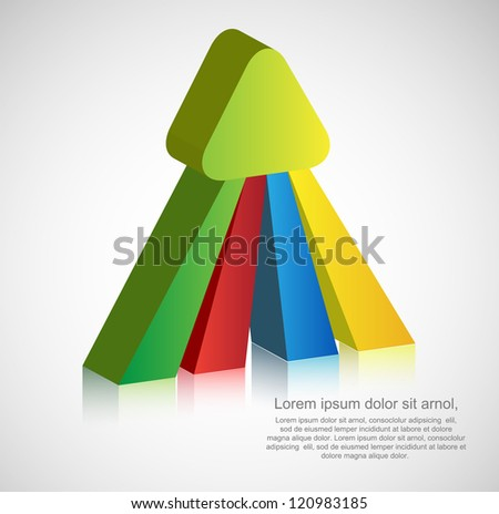 abstract 3d arrow background