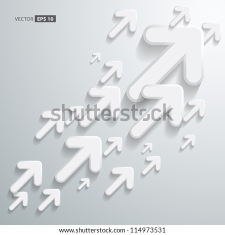 Abstract 3D Arrow Background Design - stock vector