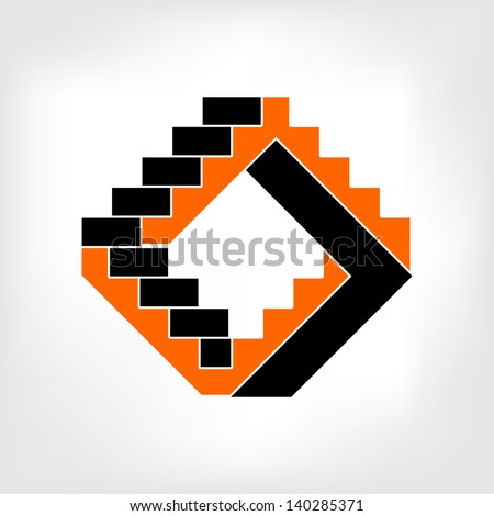 Abstract 3d Arrow Symbol Icon for design and decorate
