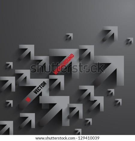 Abstract 3D Arrows Design - stock vector