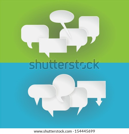 Abstract 3d callout groups, look good with colourful background, eps10 vector - stock vector
