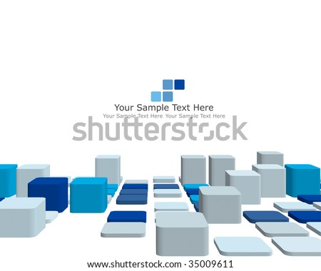 Blue 3d Blocks Stock Images Royalty Free Images Vectors