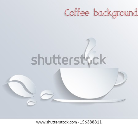 Abstract 3d coffee background. Vector EPS10  - stock vector