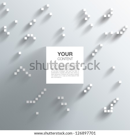 Abstract 3D Cube Design - stock vector
